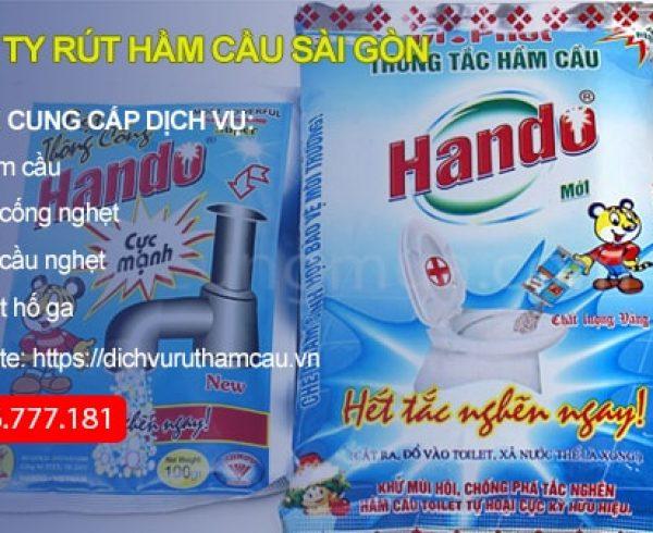 Bột thông cống Hando là loại bột thông cống được nhiều gia đình lựa chọn