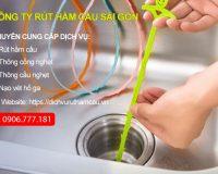 Cách thông bồn rửa bát/lavabo bằng que thông.